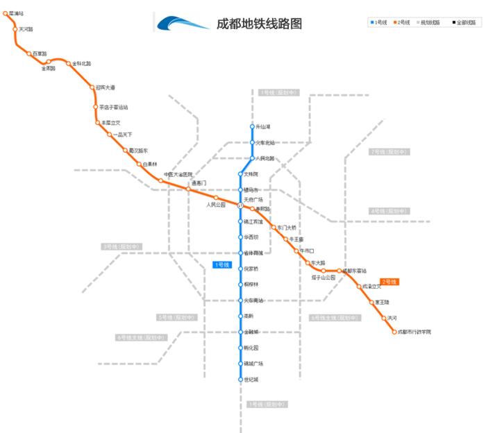 成都地铁1号线线路图图片