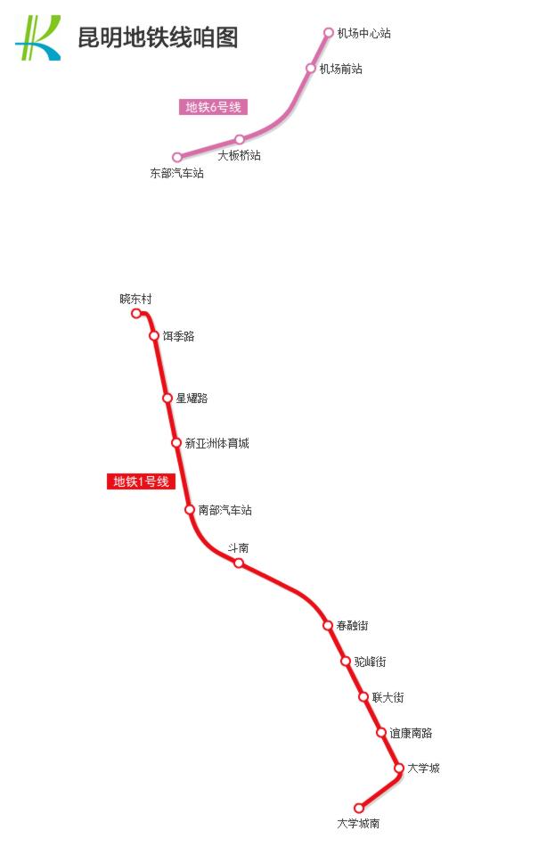 昆明地铁7号线线路图